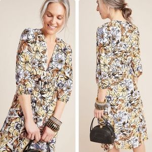 Faithfull the Brand Floral Print Midi Dress Size 6